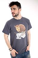 náhled - Hrabiš šedé pánské tričko
