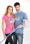 náhled - Mops fuchsiové dámské tričko