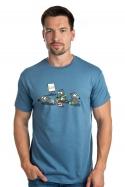 náhled - Pražský krtek modré pánské tričko