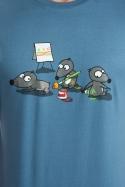 náhled - Pražský krtek modré pánské tričko - nový střih