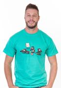 náhled - Pražský krtek zelené pánské tričko