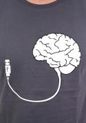 náhled - USB mozek šedé pánské tričko