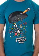 náhled - Pan Wok modré pánské tričko