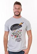 náhled - Pan Wok šedé pánské tričko