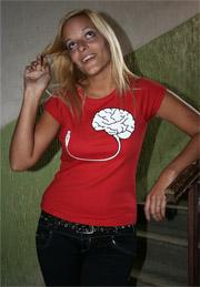 náhled - USB mozek dámské tričko