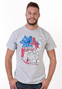 náhled - Jsem Čech světle šedé pánské tričko