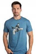náhled - Harry na inbusu modré pánské tričko