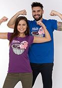 náhled - Ve formě fialové dámské tričko