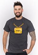 náhled - Máslo šedé pánské tričko