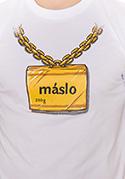 náhled - Máslo bílé pánské tričko