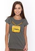 náhled - Máslo šedé dámské tričko