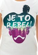 náhled - Je to rebel dámské tričko