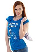 náhled - Jsem ta pravá modré dámské tričko