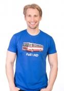 náhled - Full MHD modré pánské tričko