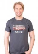 náhled - Full MHD šedé pánské tričko