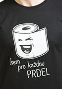 náhled - Prdel černé pánské tričko