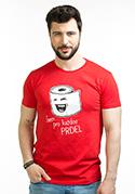 náhled - Prdel červené pánské tričko