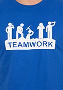 náhled - Flákači modré pánské tričko