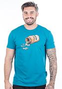 náhled - Music pills modré pánské tričko – nový střih
