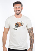 náhled - Music pills krémové pánské tričko