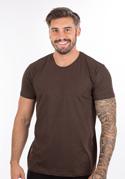 náhled - Pánské tričko hnědé