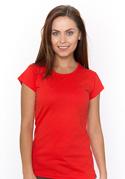 náhled - Dámské tričko klasické červené