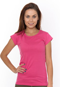 náhled - Dámské tričko klasické růžové