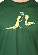 náhled - High Five zelené pánské tričko