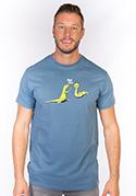 náhled - High Five modré pánské tričko