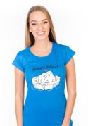 náhled - Miluju tulení modré dámské tričko