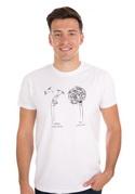náhled - Výplata bílé pánské tričko