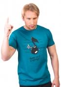 náhled - Tón modré pánské tričko