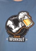 náhled - Czech Workout modré pánské tričko