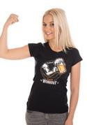 náhled - Czech workout černé dámské tričko