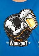 náhled - Czech workout modré dámské tričko