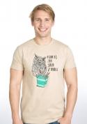 náhled - Sůva z nudlí hnědé pánské tričko