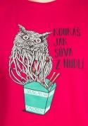 náhled - Sůva z nudlí fuchsiové pánské tričko