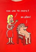 náhled - Na ježka pánské tričko
