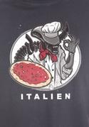 náhled - Italien šedé pánské tričko