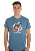 náhled - Italien modré pánské tričko