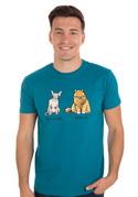 náhled - Kočka před výplatou modré pánské tričko