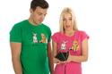 náhled - Kočka před výplatou zelené pánské tričko