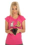 náhled - Kočka před výplatou dámské tričko