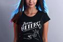 náhled - B 12 Jsem hetero černé dámské tričko