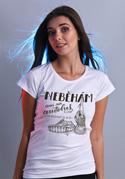 náhled - B 12 Neběhám bílé dámské tričko