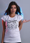 náhled - B 12 Piju rozpustný bílé dámské tričko
