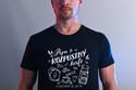 náhled - B 12 Piju rozpustný černé pánské tričko