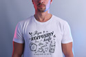 náhled - B 12 Piju rozpustný bílé pánské tričko