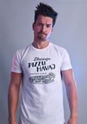 náhled - B 12 Zbožňuju pizzu Havaj bílé pánské tričko