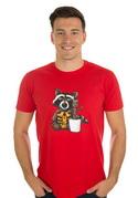 náhled - Strážci galaxie červené pánské tričko